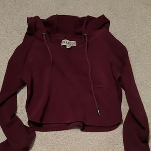 Cropped paragon hoodie